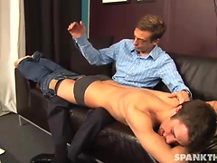 Twink spanked by his master