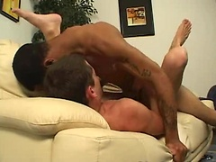 Hot ebony twink thug fucks white ass