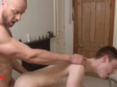 Muscle hunk fucks young ass. JP Dubois and Nathan Price.