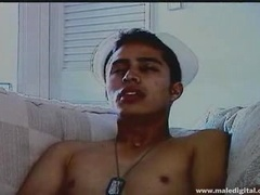 Sexy Latino Jerks Off And Gives A Big Load Of Cum