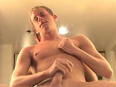 This hot college stud Mason likes nothing better than to blow out a load of hot sticky man juice.
