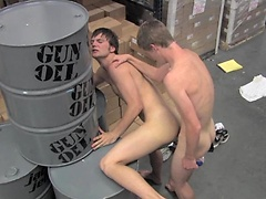 Twink warehouse fuck friends dirty butt bangs