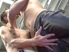 Chad Davis & Micah Andrews in a gym