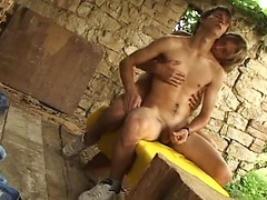 Two sexy euro boys having fun