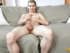 Hot twink boy Ashley jacking off dick