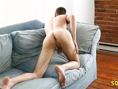 Euro boy Evan Hayes jacking off dick