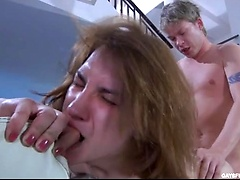 Two boys exchange blowjobs and rimjobs before straight-on-gay ass cramming