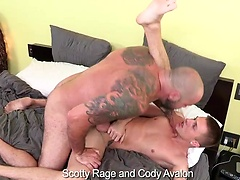 Scotty Rage fucks Cody Avalon's young bottom