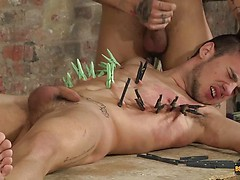 Mickey Cums Hard After Face Fucking Izan - Izan Loren And Mickey Taylor