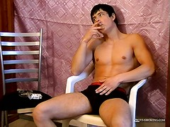 Gus Smokes & Strokes His Fat Cock! - Gus Smokes & Strokes His Fat Cock!