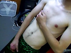 Jerking His Cock At Work - Dustin Beeber