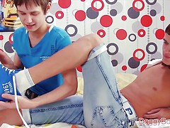 Tickling twinks get very playful!
